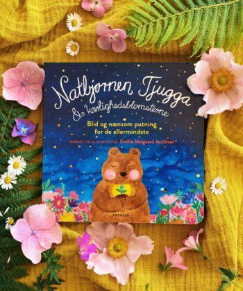Tjugga the Night bear and the colorfull flowers - cardboard book