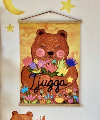 Plakat 500x700 Tjugga og kærlighedsblomsterne