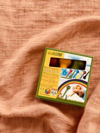 Drop-shaped wax colors